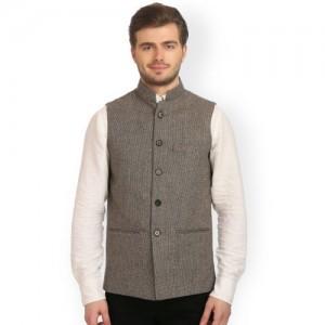Wintage Brown Bandhgala Nehru Jacket