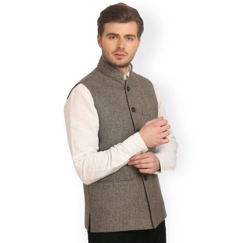 Wintage Brown Bandhgala Nehru Jacket