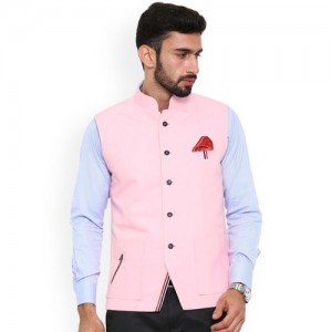 b8889029b7df Buy United Colors of Benetton Baby Pink Solid Cotton Nehru Jacket ...