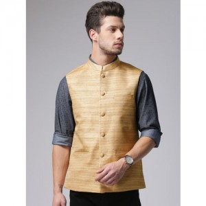 True Blue Gold-Toned Nehru Jacket