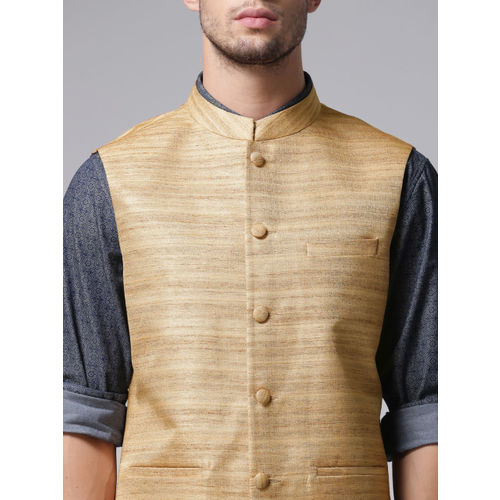True Blue Gold-Toned Nehru Jacket