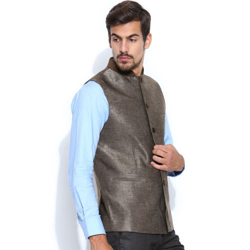 Success Brown Linen Nehru Jacket