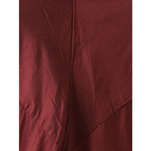 KISAH Men Maroon & Grey Solid Kurta with Churidar