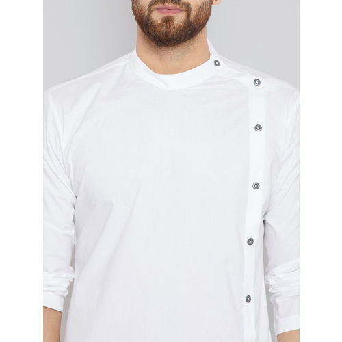 See Designs Men White Solid Kurta with Trousers