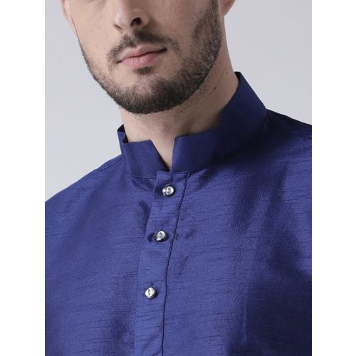 DEYANN Men Blue Solid Kurta with Patiala
