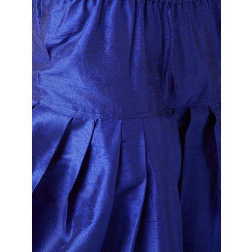 SOJANYA Men Grey & Blue Solid Kurta with Harem Pants