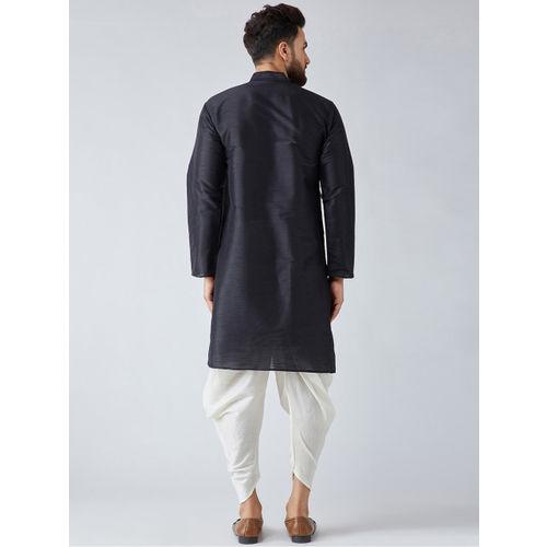 SOJANYA Men Black Solid Kurta with Harem Pants
