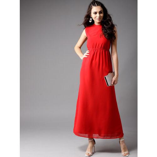 Moda Rapido Women Red Solid Maxi Dress