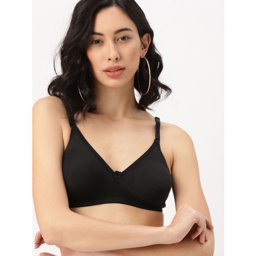DressBerry Black Solid Non-Wired Non Padded Everyday Bra DB-LWR-BRA-029A