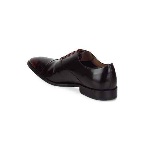 Park Avenue Men Brown & Maroon Formal Leather Oxford Shoes