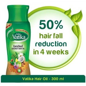 Dabur Vatika Enriched Coconut Hair Oil for Hair Fall Control - 300ml
