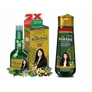 Kesh King Ayurvedic Scalp and Hair Oil 60ml & Shampoo 50ml Combo