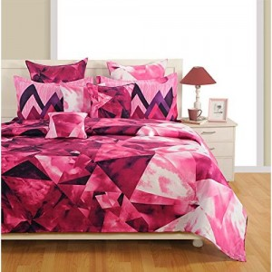 Swayam Pink and Purple Colour Bed in a Bag Set of 4