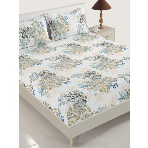 Swayam 160 TC Cotton Single Floral Bedsheet