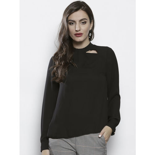 DOROTHY PERKINS Women Black Solid Top