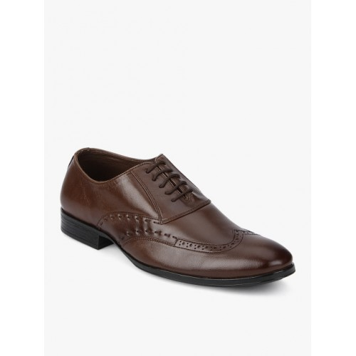 Egoss Brown Brogues Formal Shoes