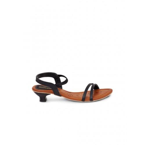Shoetopia Black Synthetic Solid Heels