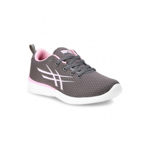 Columbus Pink Mesh Lace Up Running Shoes