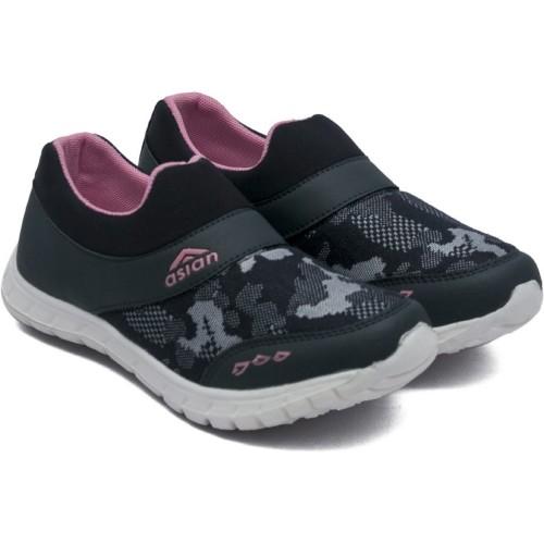 Asian  Black Mesh Casual & Running Shoes  For Women