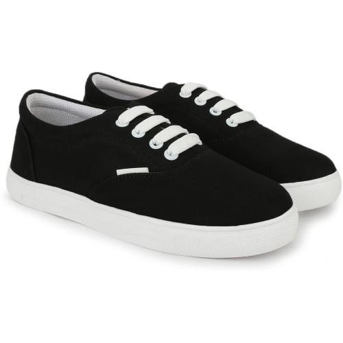 Zyma Fashion Black Canvas Casual Sneakers