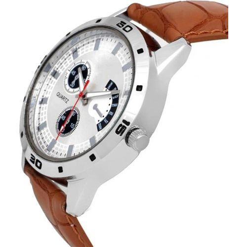 Addic true choice new super fast selling Latest Fashionable White Designer New Look Stylish Titanium 001 Mens Watch Watch - For Boys 6 month warranty