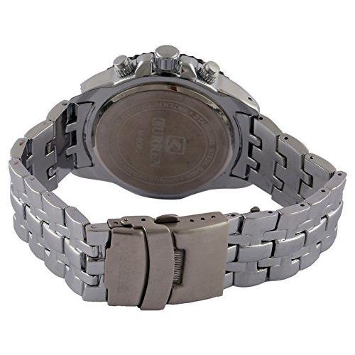CURREN Silver Round Analogue Watch - curren20