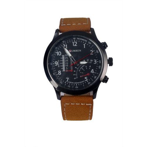 Curren 8152-BR Brown Round Analog Watch