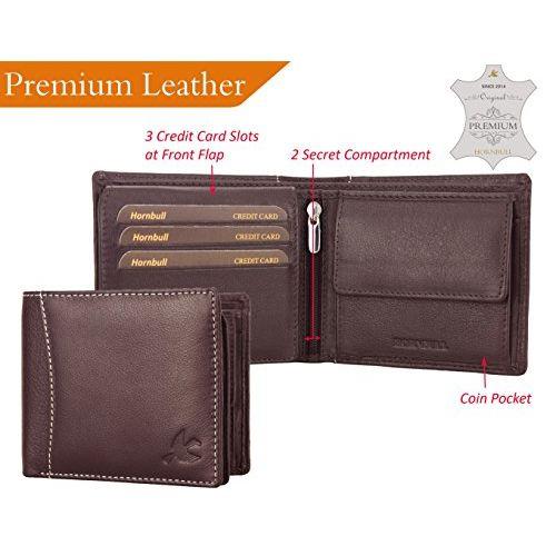 HORNBULL Men's Combo of Brown Wallet and Black Belt