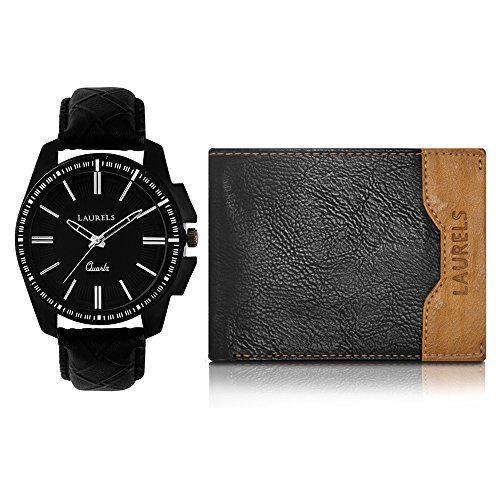Laurels Analogue Blue Dial Men's Watch & Wallet Combo - Cp-Trs-101-Tsk-0206