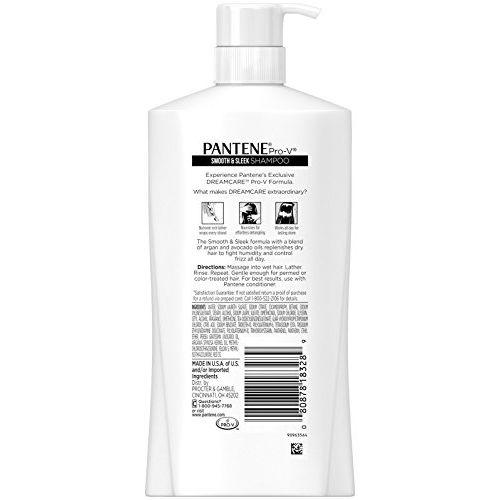 Pantene Pro-v Smooth & Sleek Shampoo, 30.4 Fl Oz, 2.21 Pound