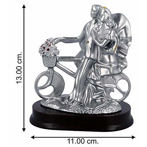 WebelKart by JaipurCrafts Designer Romantic Valentine Love Couple Statue Showpiece Gifts-13 cms