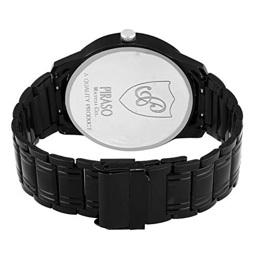 Piraso Analogue Black Dial Watch (54-BK-CK)