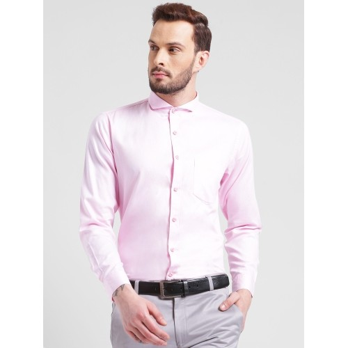 Being Pink Cotton Solid Regular Fit Formal Shirt