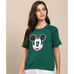 Levi's Printed Women's Round Neck Green T-Shirt