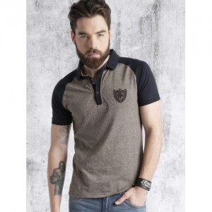 Roadster Brown Cotton Solid Polo Collar T-Shirt