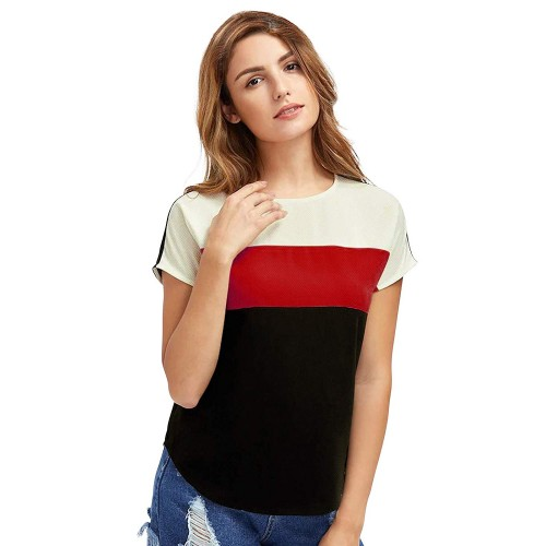 Pearl Styles Black Round Neck Solid T-Shirt