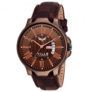 Vills Laurrens Brown Day and Date Watch