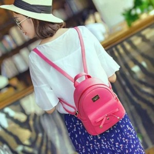 Redlicchi Cute Mini PU Leather Backpack