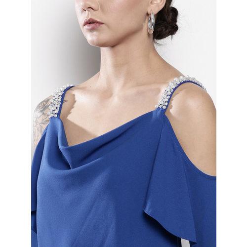 DOROTHY PERKINS Women Blue Solid Top