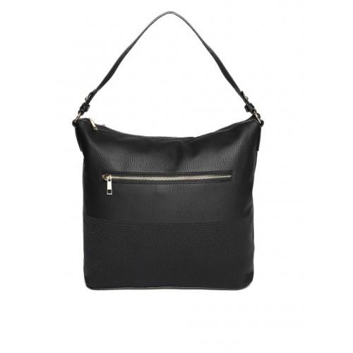 DressBerry Black Synthetic Solid Shoulder Bag