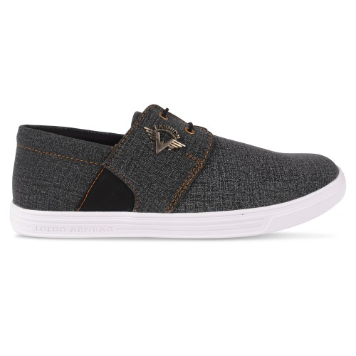 Butchi Grey Synthetic Lace-up Air Mix Sneakers Casual Shoes For men