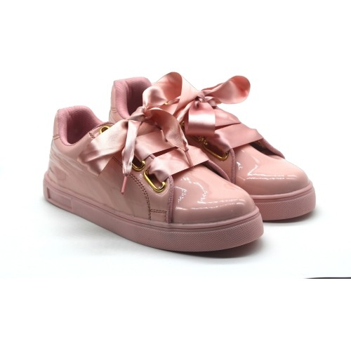 Jynx Torrie Pink Synthetic Lace Up Sneakers