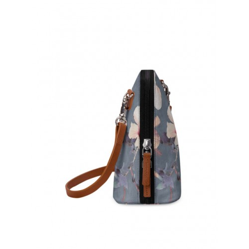 DailyObjects Grey Canvas Printed Sling Bag