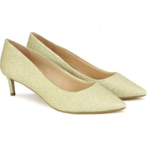 Carlton London Golden Synthetic Leather Bellies