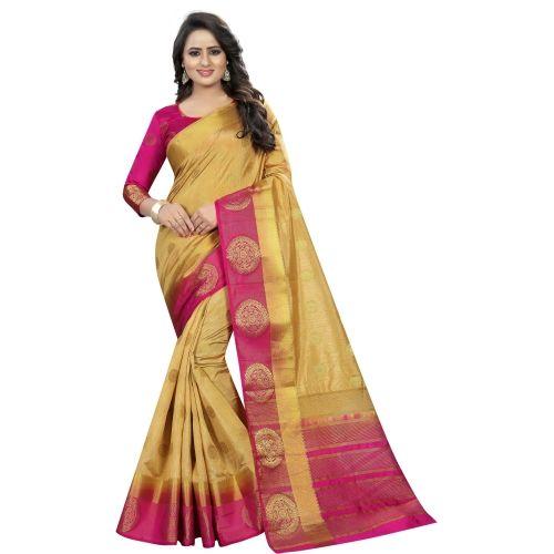 Saarah Embellished Jamdani Art Silk Saree