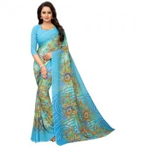 Saarah Floral Print Fashion Crepe Saree