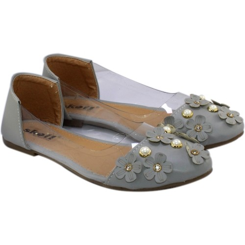SKOL Grey Synthetic Leather Transparent Bellies