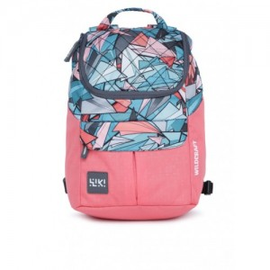 Wildcraft Pink & Blue Graphic Printed Backpack