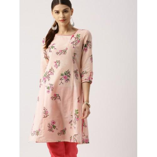 all about you from Deepika Padukone Women Pink Printed A-Line Kurta