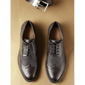 INVICTUS Coffee Brown Synthetic Formal Brogues